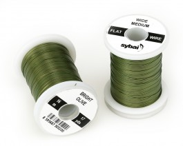 Flat Colour Wire, Medium, Wide, Bright Olive