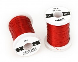 Flat Colour Wire, Medium, Wide, Red