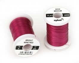 Flat Colour Wire, Medium, Wide, Bright Wine Red