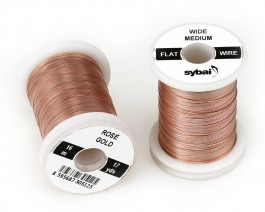 Flat Colour Wire, Medium, Wide, Rose Gold