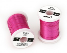 Flat Colour Wire, Medium, Wide, Bright Pink