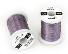 Flat Colour Wire, Medium, Wide, Light Violet Silver