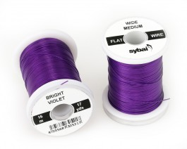 Flat Colour Wire, Medium, Wide, Bright Violet