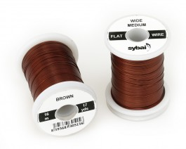 Flat Colour Wire, Medium, Wide, Brown