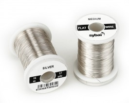 Flat Colour Wire, Medium, Silver