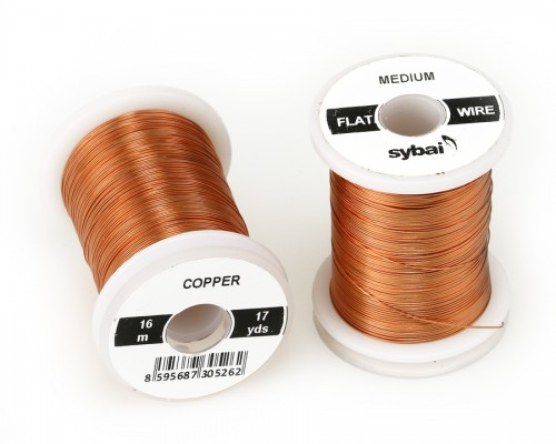 Flat Colour Wire, Medium, Copper