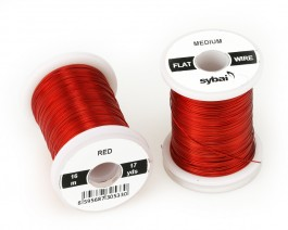 Flat Colour Wire, Medium, Red