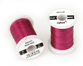 Flat Colour Wire, Medium, Bright Wine Red