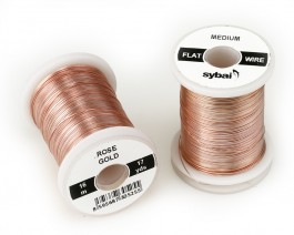 Flat Colour Wire, Medium, Rose Gold