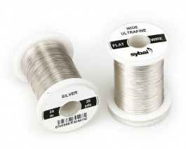 Flat Colour Wire, Ultrafine, Wide, Silver