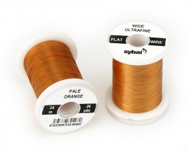 Flat Colour Wire, Ultrafine, Wide, Pale Orange