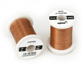 Flat Colour Wire, Ultrafine, Wide, Copper