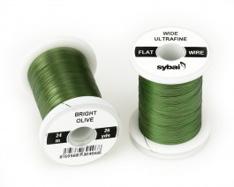 Flat Colour Wire, Ultrafine, Wide, Bright Olive