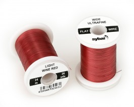 Flat Colour Wire, Ultrafine, Wide, Light Wine Red