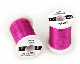 Flat Colour Wire, Ultrafine, Wide, Bright Pink