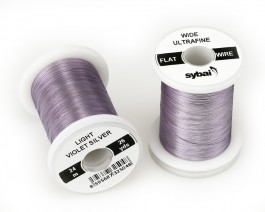 Flat Colour Wire, Ultrafine, Wide, Light Violet Silver