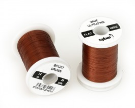 Flat Colour Wire, Ultrafine, Wide, Bright Brown