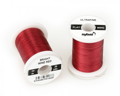 Flat Colour Wire, Ultrafine, Bright Wine Red