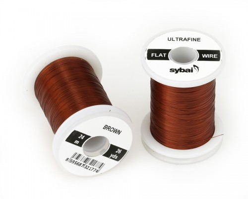 Flat Colour Wire, Ultrafine, Brown