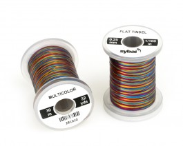 Flat Tinsel, 0.25 mm, Multicolor