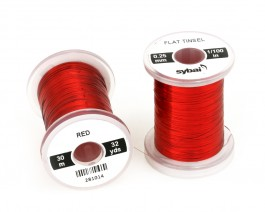 Flat Tinsel, 0.25 mm, Red
