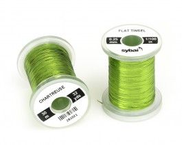 Flat Tinsel, 0.25 mm, Chartreuse