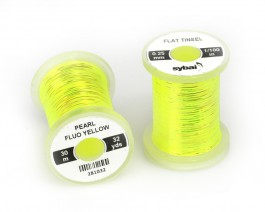 Flat Tinsel, 0.25 mm, Pearl Fluo Yellow