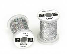 Flat Tinsel, 0.25 mm, Holographic Silver