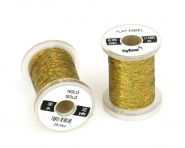 Flat Tinsel, 0.25 mm, Holographic Gold