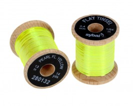 Flat Tinsel, 0.4 mm, Pearl Fluo Yellow