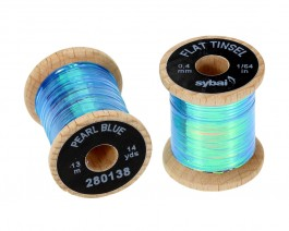 Flat Tinsel, 0.4 mm, Pearl Blue