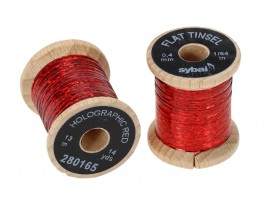 Flat Tinsel, 0.4 mm, Holographic Red