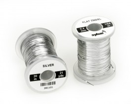 Flat Tinsel, 0.4 mm, Silver