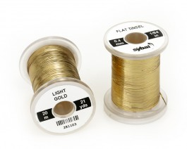Flat Tinsel, 0.4 mm, Light Gold