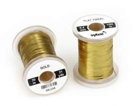 Flat Tinsel, 0.4 mm, Gold