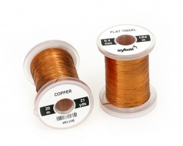 Flat Tinsel, 0.4 mm, Copper