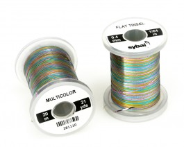 Flat Tinsel, 0.4 mm, Multicolor