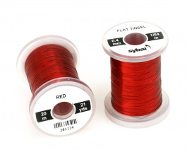 Flat Tinsel, 0.4 mm, Red