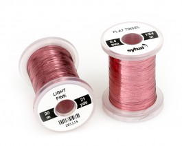 Flat Tinsel, 0.4 mm, Light Pink