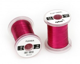 Flat Tinsel, 0.4 mm, Fuchsia