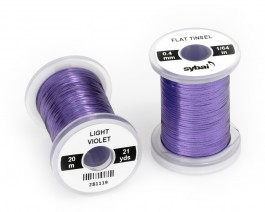 Flat Tinsel, 0.4 mm, Light Violet