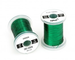 Flat Tinsel, 0.4 mm, Green