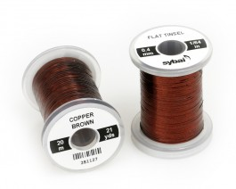 Flat Tinsel, 0.4 mm, Copper Brown
