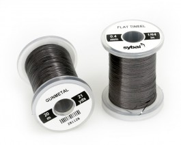 Flat Tinsel, 0.4 mm, Gunmetal