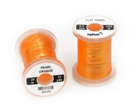 Flat Tinsel, 0.4 mm, Pearl Orange