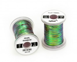 Flat Tinsel, 0.4 mm, Pearl Rainbow
