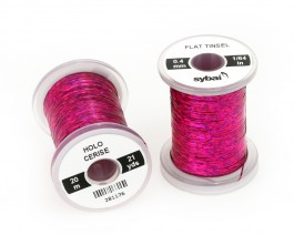Flat Tinsel, 0.4 mm, Holographic Cerise