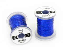 Flat Tinsel, 0.4 mm, Holographic Blue