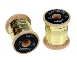Flat Tinsel, 0.8 mm, Gold