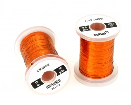 Flat Tinsel, 0.8 mm, Orange
